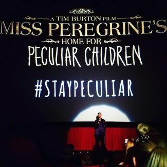 Ransom Riggs speaking before the screening.